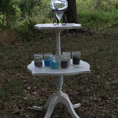 Square 2 Tier Table