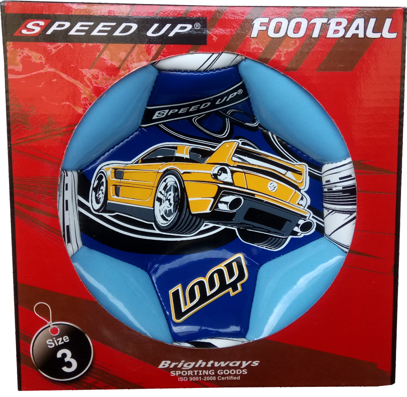 CAR DESIGN FOOTBALL SIZE-3, BLUE  BOX