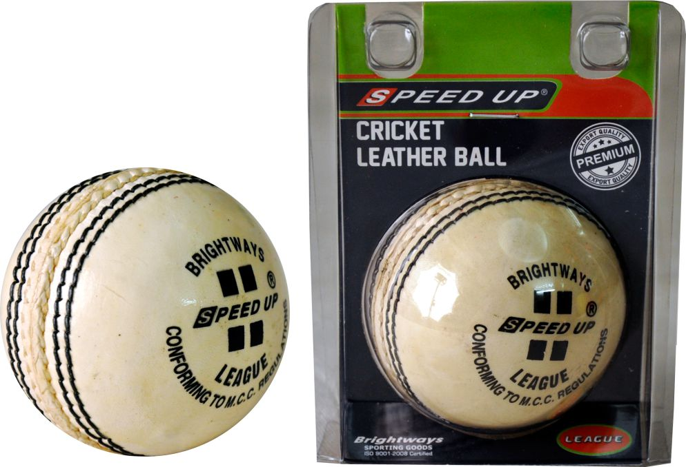 2683 LEATHER CRICKET SEASON BALL WHITE