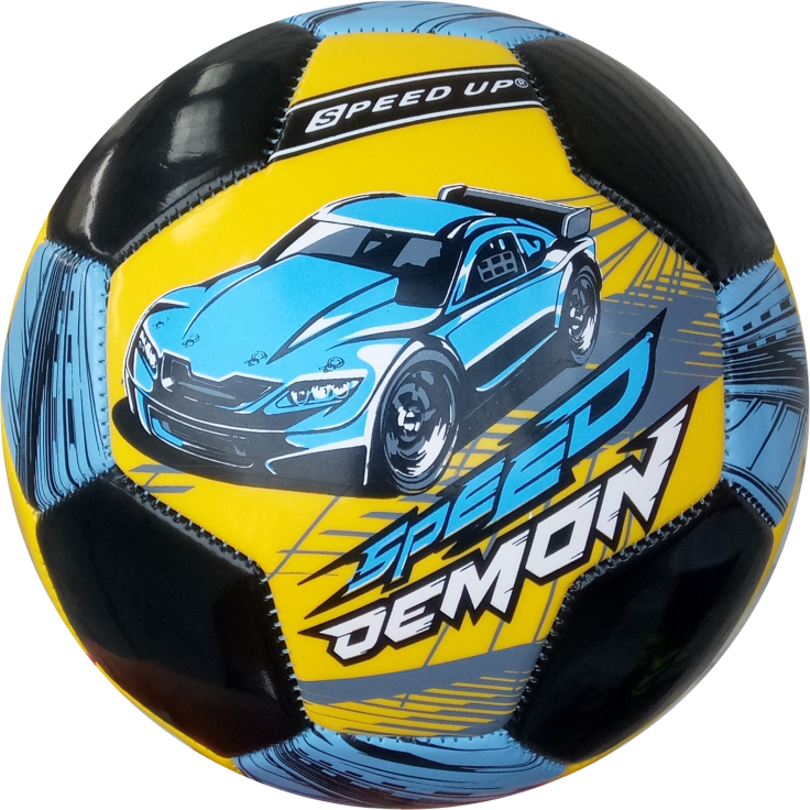 CAR DESIGN FOOTBALL SIZE-3, YELLOW