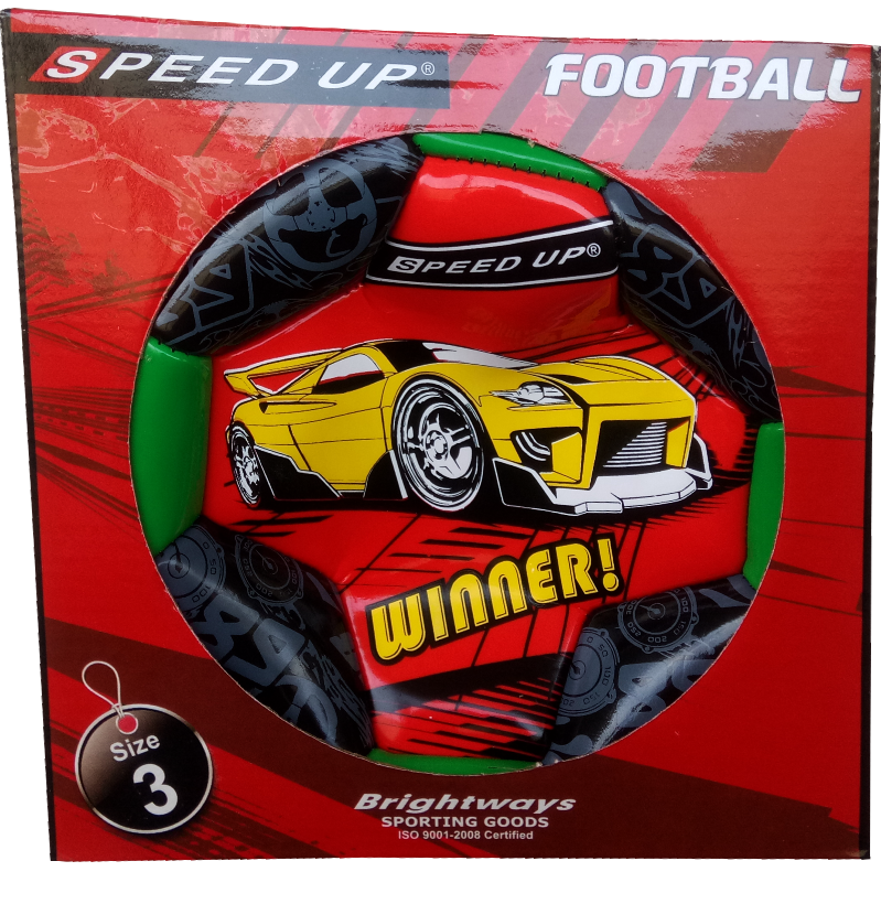 CAR DESIGN FOOTBALL SIZE-3, RED  BOX