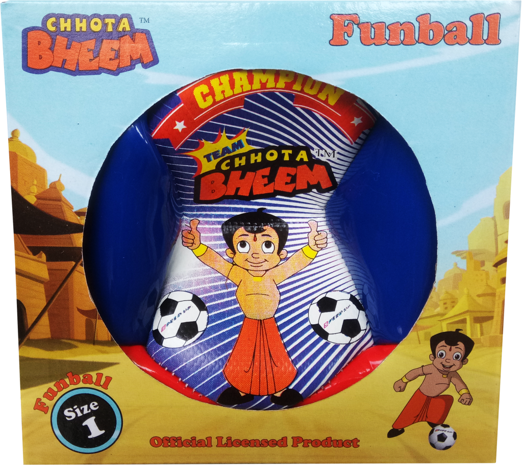 CHHOTA BHEEM FOOTBALL SIZE-1 B  BOX