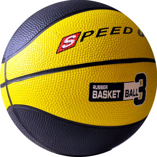 3010 RUBBER BASKETBALL SIZE 3 YELLOW