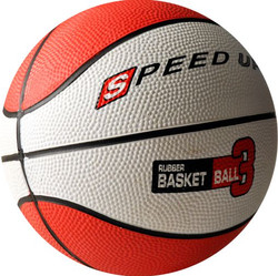 3010 RUBBER BASKETBALL SIZE 3 RED