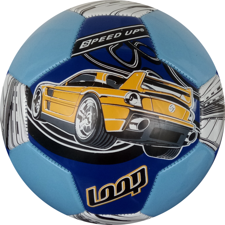 CAR DESIGN FOOTBALL SIZE-3, BLUE