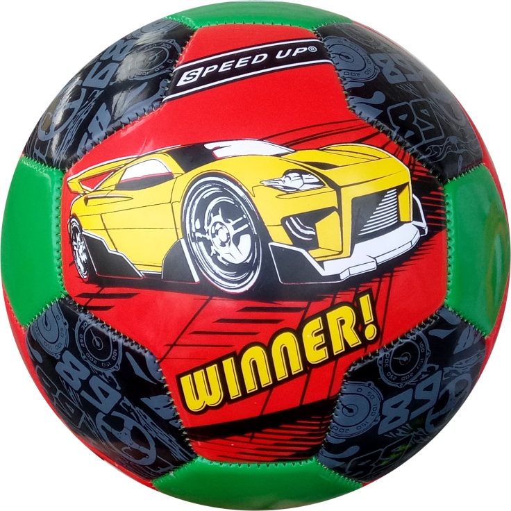 CAR DESIGN FOOTBALL SIZE-3, RED