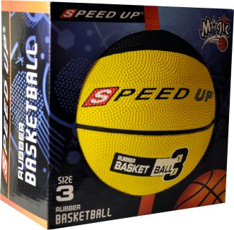 3010 RUBBER BASKETBALL SIZE 3 YELLOW BOX