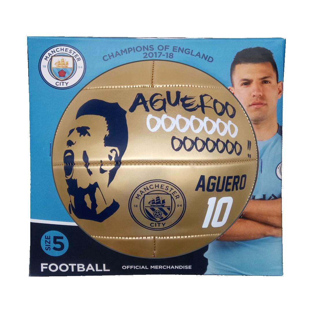 aguero FOOTBALL BOX GOLD