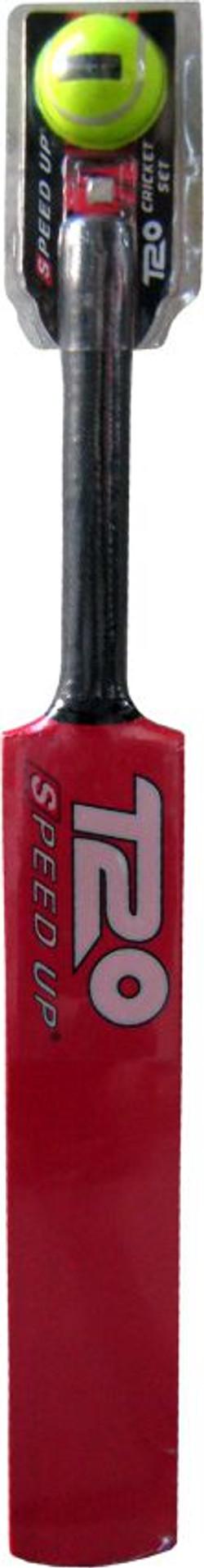 2168 T20 CRICKET BAT & BALL RED