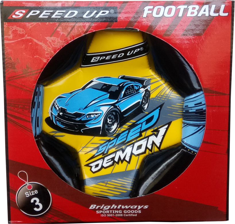 CAR DESIGN FOOTBALL SIZE-3, YELLOW  BOX.