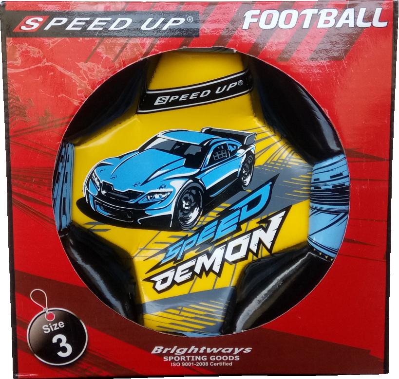 CAR DESIGN FOOTBALL SIZE-3, YELLOW  BOX.