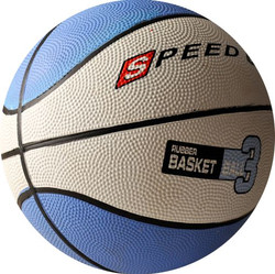 3010 RUBBER BASKETBALL SIZE 3 BLUE