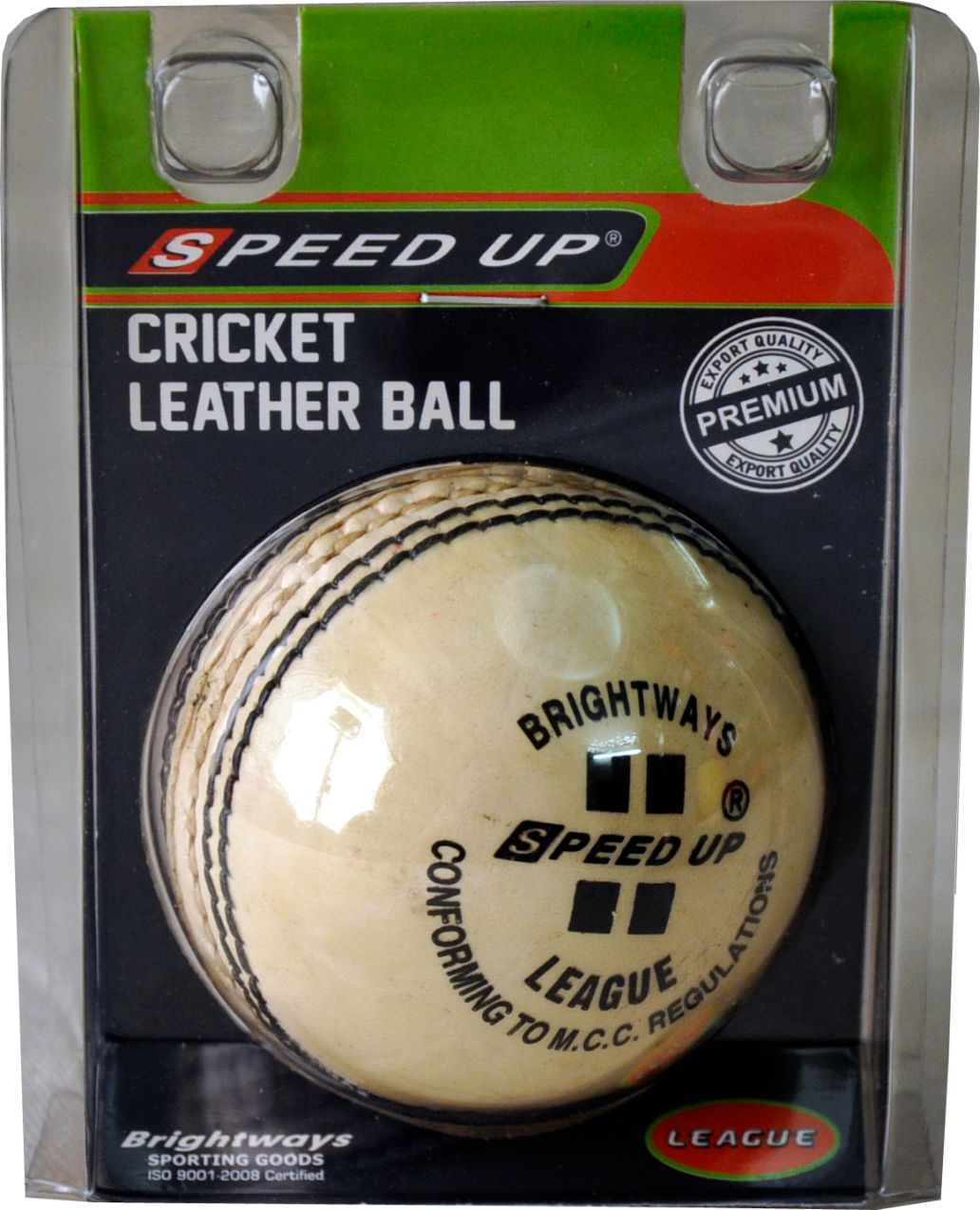 2683 LEATHER CRICKET SEASON BALL WHITE BLISTER PACK