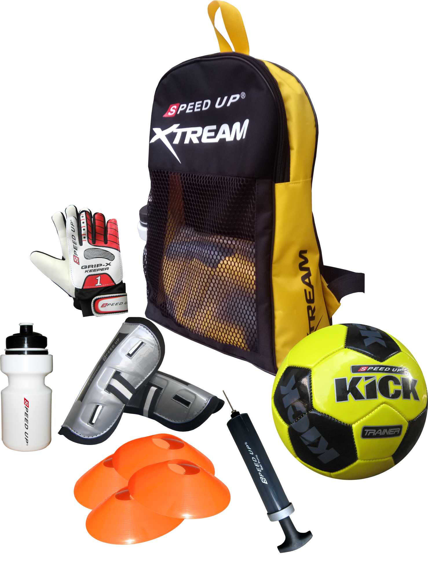 FOOTBALL BACK PACK 7 PCS COMBO SET