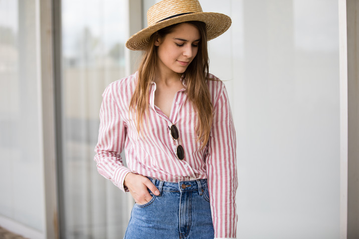 Red & White Stripes Lookbook
