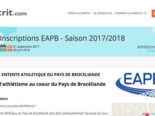 Inscription saison 2017-2018 : les démarches