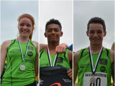 3 athlètes qualifiés aux Championnats de France Cadets/Juniors