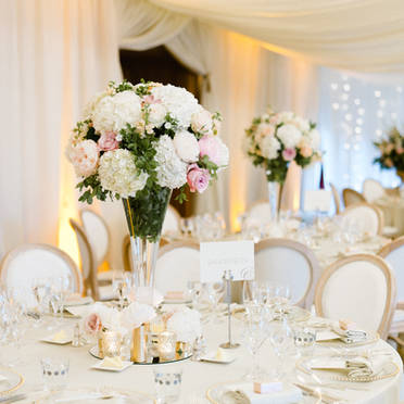 Pennyhill Park outdoor summer wedding - Anushe Low