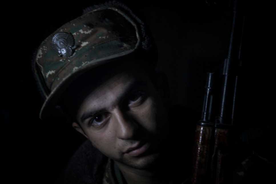 The front lines of the Armenia-Azeri War, April 2019