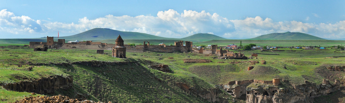 The ruins of the ancient Armenian capital city of Ani, 2016