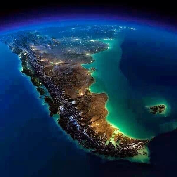 Argentina aerial at night