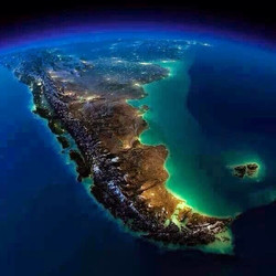 Argentina aerial at night