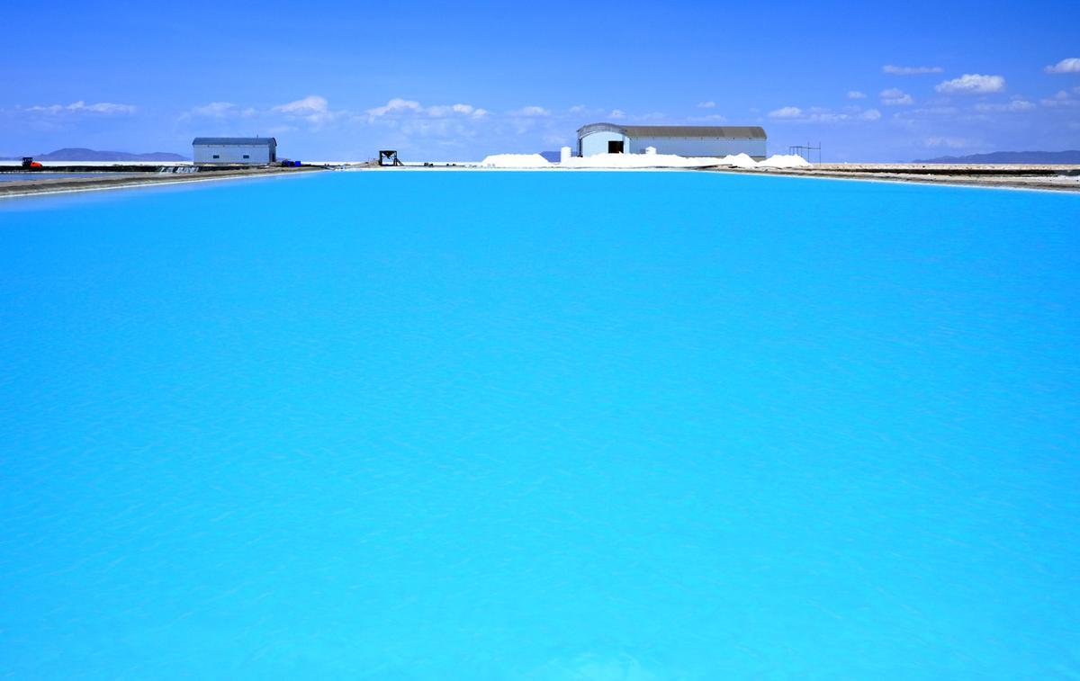 Brine Evaporation Pond