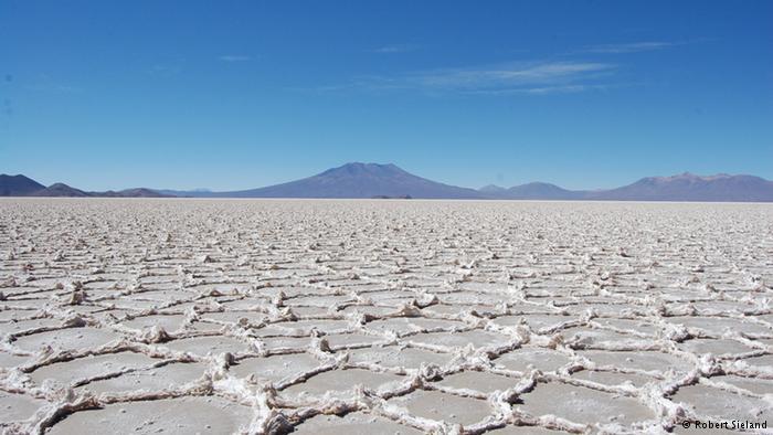 Dry salar after summer season
