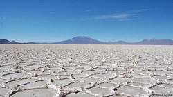 Dry salar after summer season