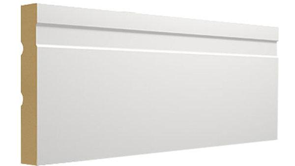 Rodapé MDF Branco com friso 100mm
