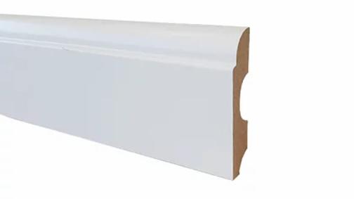Rodapé MDF Branco Clean 80mm