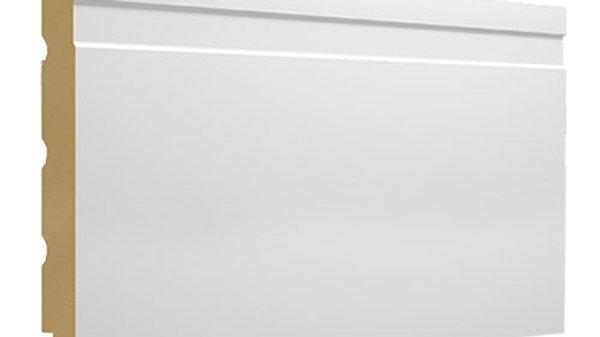 Rodapé MDF Branco com friso 150mm