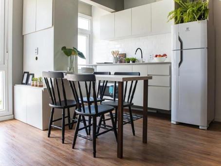 Reforma de apê de 29 m² com Piso Vinílico valoriza potencialidade do imóvel