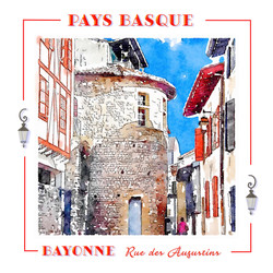 Pays Basque bayonne Rue des Augustins