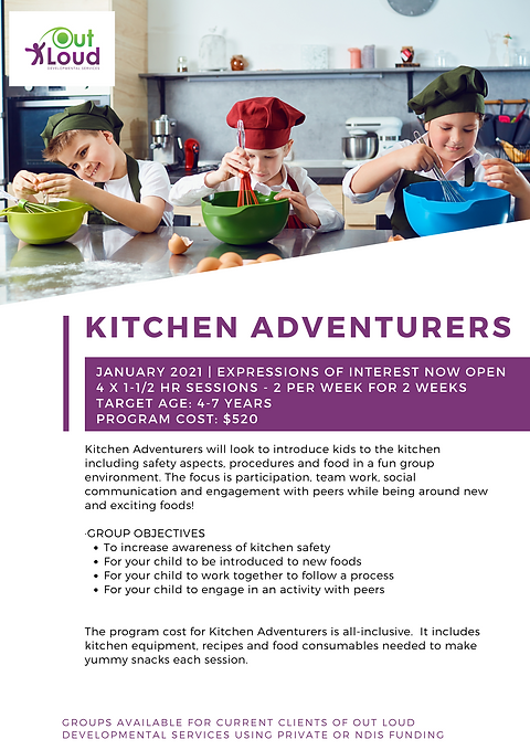 2021 Holiday Group - Kitchen Adventurers
