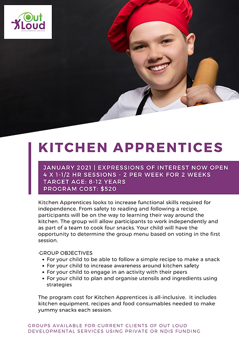 2021 Holiday Group - Kitchen Apprentices