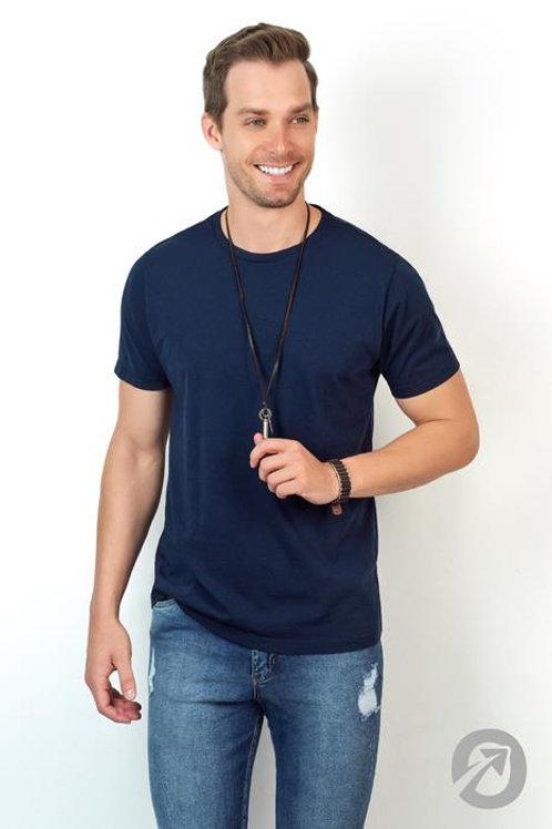 Camiseta Masculina T-shirt Azul Básica 100% Algodão