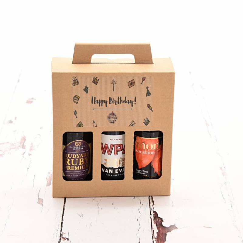 Happy Birthday Craft Beer 3 Pack The Gift Fairy