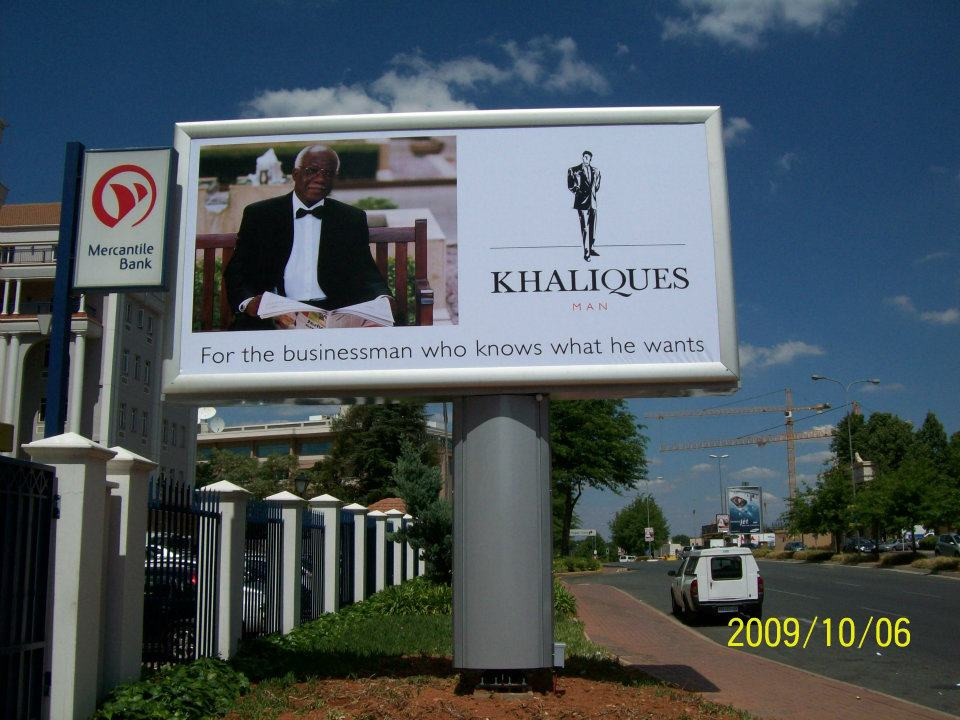 1st Billboard, proadly placed in Sandton