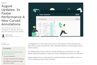 August UpdaMonthly blog for Techpackertes: 3x Faster Performance & New Curved Annotations
