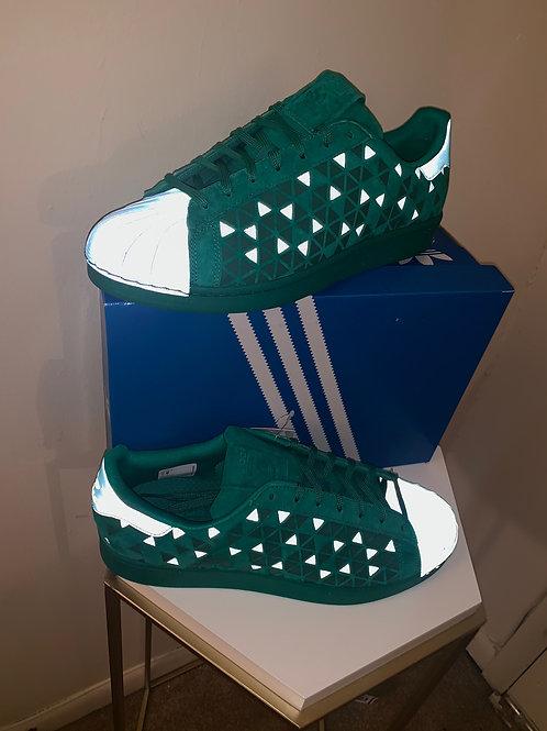 Reflective (Mens sz12) Adidas Superstar