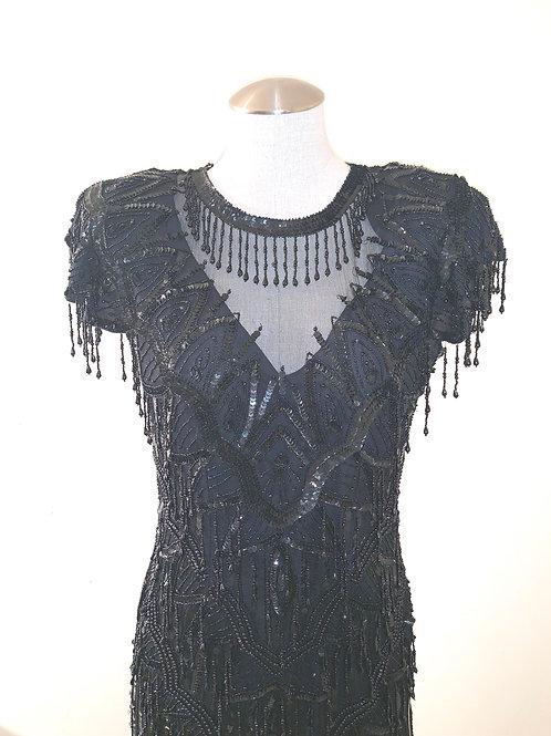 Vintage Sheer & Beaded Dress