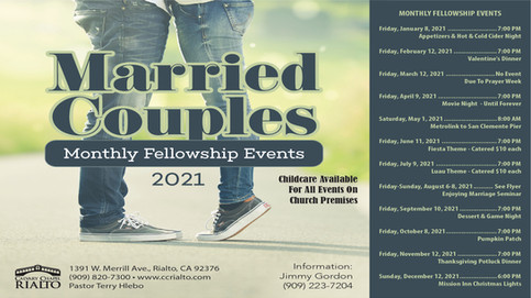 Married Couples' Monthy Events