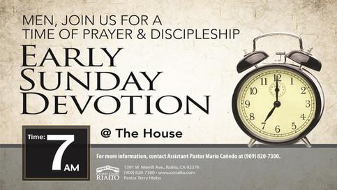 Early Sunday Devotion