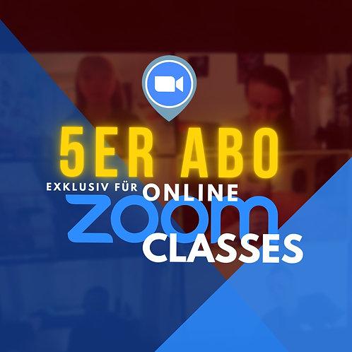 5 LEKTIONEN ZOOM CLASS