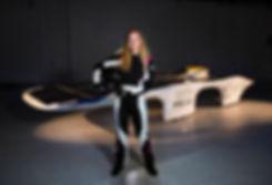 Cal Poly PROVE Lab solr car driver Lacey Davis