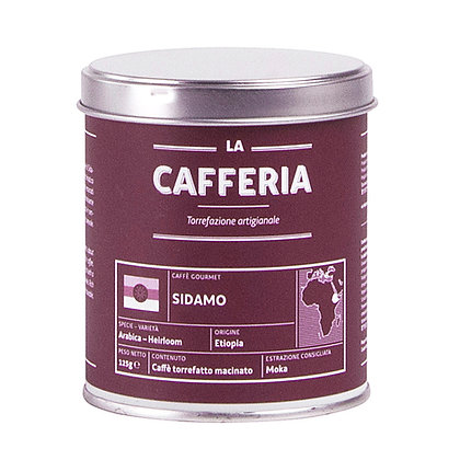 "La Cafferia ""Sidamo"" 125g gemahlen (71,60€/kg)"