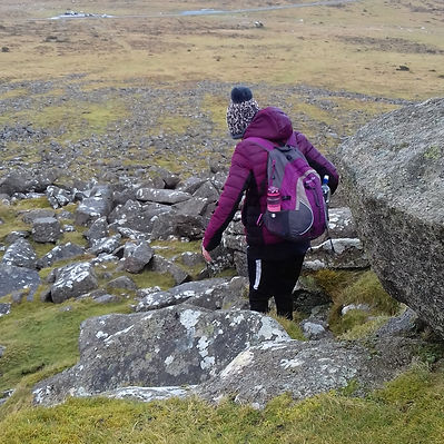 Young person out exploring nature on Dartmoor
