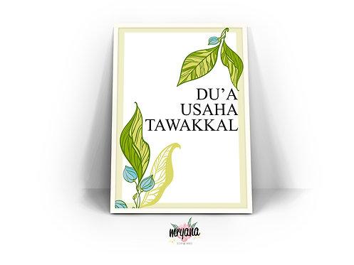 Du'a, Usaha, Tawakkal Printout + Frame