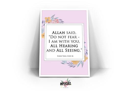 Surah Taha, Verse 46 Digital